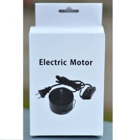Electric Mains Motor EU Plug, Black