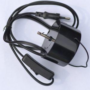 Electric Mains Motor EU Plug Black