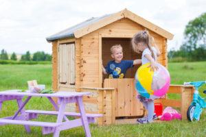 M500 G wooden playhouse inside