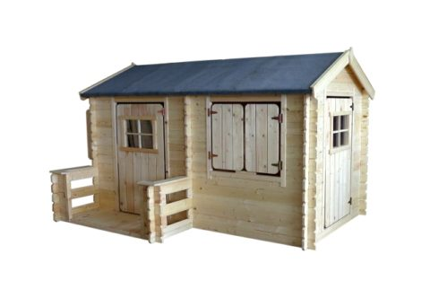 M503 B wooden playhouse long full view