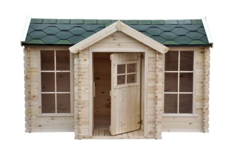 M520 B wooden playhouse clockhouse front