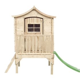 M550A (B) wooden playhouse curved roof, 600mm platform, front