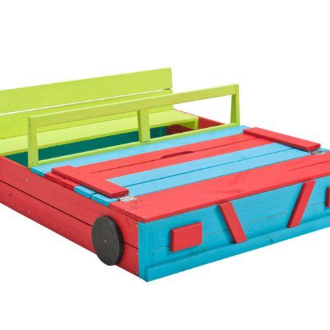 värviline liivakast auto