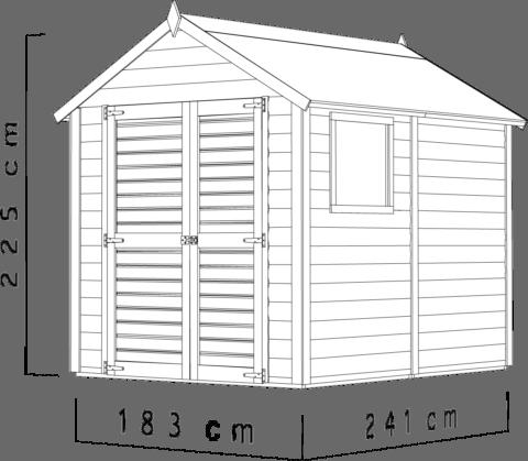 Bertilo 8x6LL19PWNF Blockhouse Classic nat dim cm