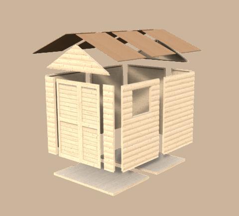 Bertilo 8x6LL19PWNF Blockhouse Classic nat expl 0.1