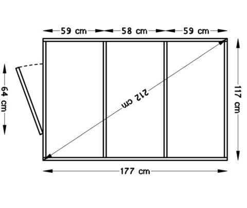 Bertilo 4x6RP14PWNF Medium nat dim floor