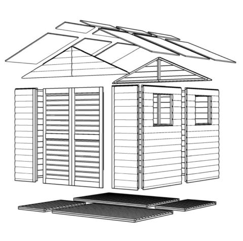 Bertilo 8x8LL19PWNF Blockhouse XL nat expl