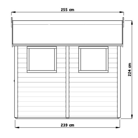 Bertilo 8x8LL19PWNF Blockhouse XL nat side  dim