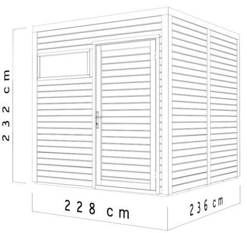 Bertilo BCCU2AN Cubo 2 nat dim.cm