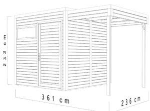 Bertilo BCCU2SNF Cubo 2 Set nat dim.cm