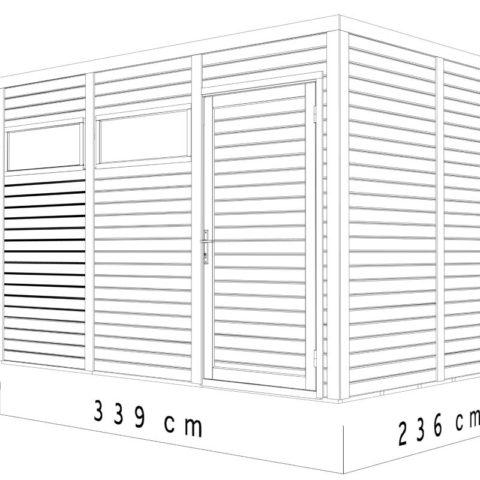 Bertilo BCCU3NF Cubo 3 nat dim.cm2