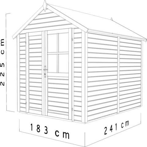 Bertilo BCF002RE Fino 2 red dim cm