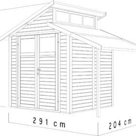 Aiamaja STUDIO BASIC 1 varjualusega (5,9 m²)