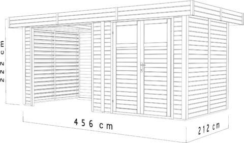 Bertilo BCK4101 Woodhouse Kubik dim.cm
