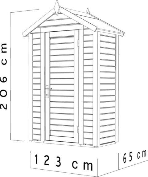 Bertilo BCK5001PGR Cabin Premio grey dim cm