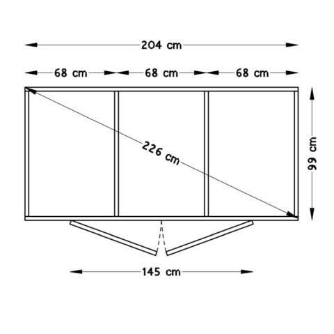 Bertilo BCK5005NF Velo nat flooring frame
