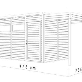 Aiamaja PENTO 3 varjualusega (11,0 m²)