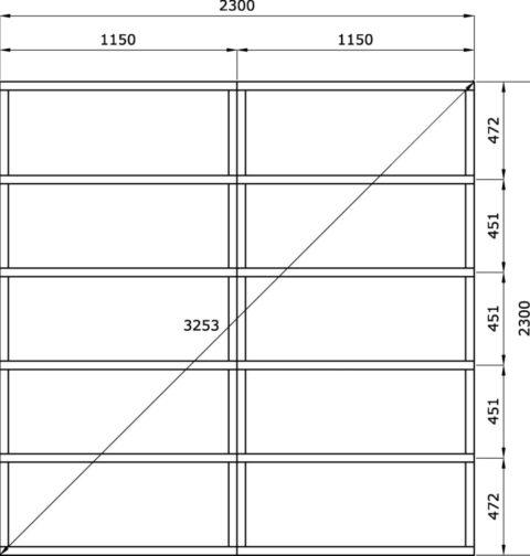 Bertilo BCWLF1GR Woodline Flachdach grey floor