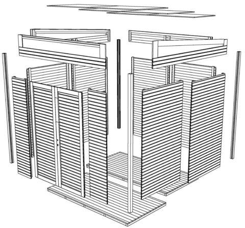 Bertilo BCWLP1AN Woodline Pultdach anth overview