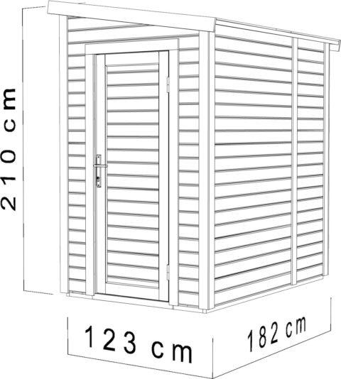 Bertilo PWP4x6NF Medium Wall Premio nat dim cm