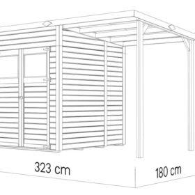 Aiamaja AMRUM 2 PLUS varjualusega (3,03 m²)