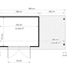 Aiamaja AMRUM 3 PLUS varjualusega (4,16 m²)
