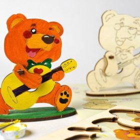 3D pusled KaruUgears 4Kids coloring Bear 1 max 1000