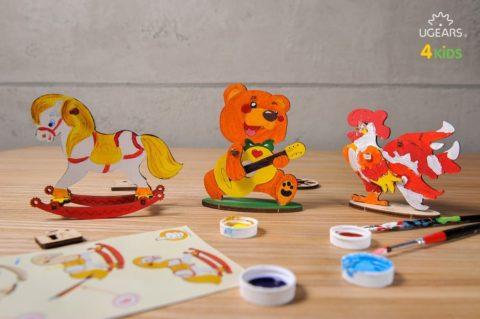 3D pusled KaruUgears 4Kids coloring Bear 3 max 1000
