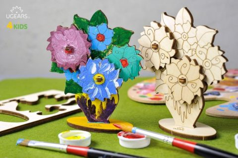 3D pusled LilledUgears 4Kids coloring Bouquet 3 max 1000