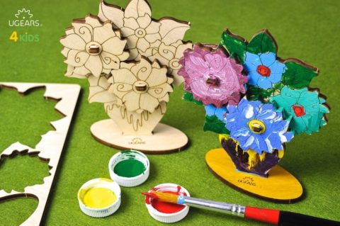 3D pusled LilledUgears 4Kids coloring Bouquet 6 max 1000