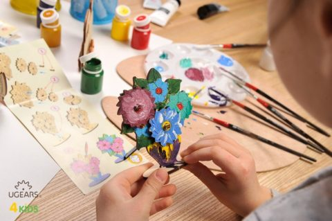 3D pusled LilledUgears 4Kids coloring Bouquet 9 max 1000
