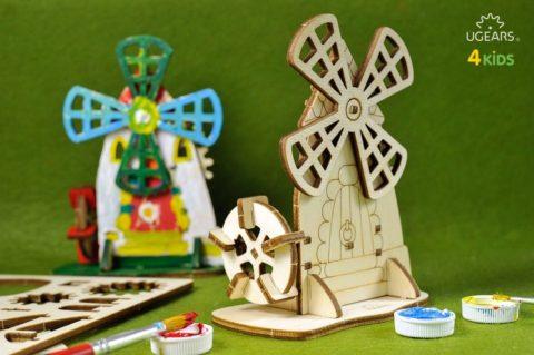 3D pusled TuulikUgears 4Kids coloring Mill 4 max 1000