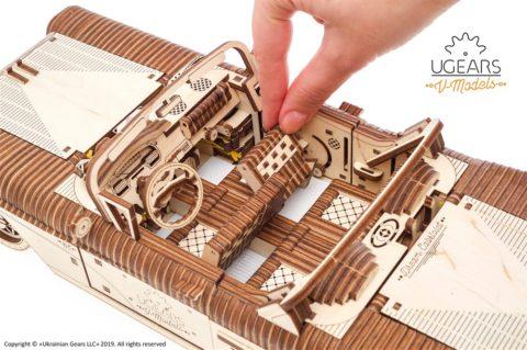 3D pusled kabriolett10 Ugears Dream Cabriolet VM 05 mechanical model kit max 1000