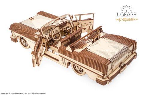 3D pusled kabriolett12 Ugears Dream Cabriolet VM 05 mechanical model kit max 1000