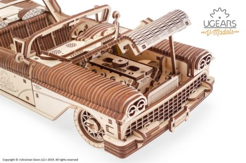 3D pusled kabriolett18 Ugears Dream Cabriolet VM 05 mechanical model kit max 1000