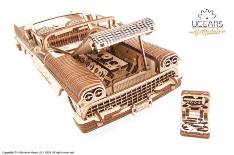 3D pusled kabriolett21 Ugears Dream Cabriolet VM 05 mechanical model kit max 1000