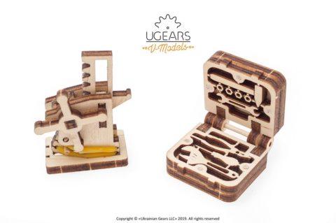 3D pusled kabriolett23 Ugears Dream Cabriolet VM 05 mechanical model kit max 1000