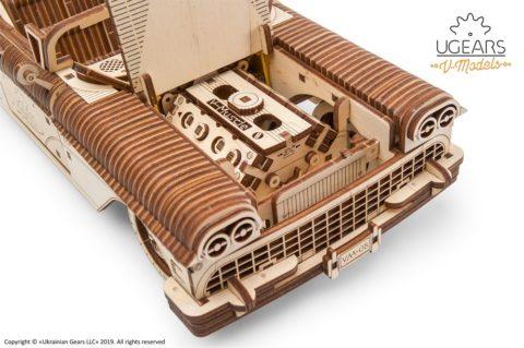 3D pusled kabriolett4 Ugears Dream Cabriolet VM 05 mechanical model kit max 1000