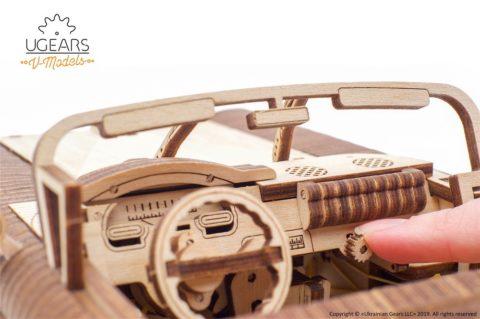 3D pusled kabriolett8 Ugears Dream Cabriolet VM 05 mechanical model kit max 1000