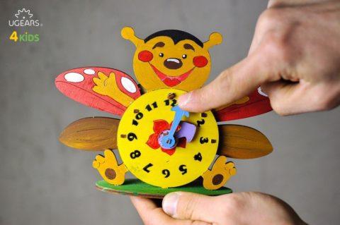 3D pusled kellUgears 4Kids coloring Clock 3 max 1000