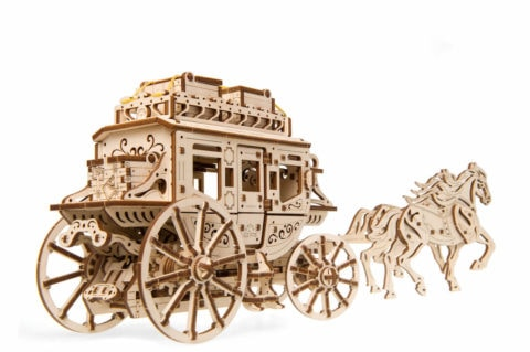 Ugears Stagecoach model Title