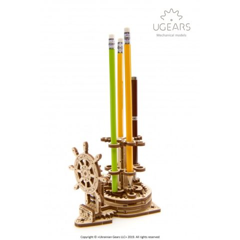 Ugears Wheel Organizer for pens pencils Mechanical model DSC4317 800x800