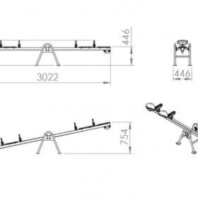 Kaalukiik kahekohaline CLK-109