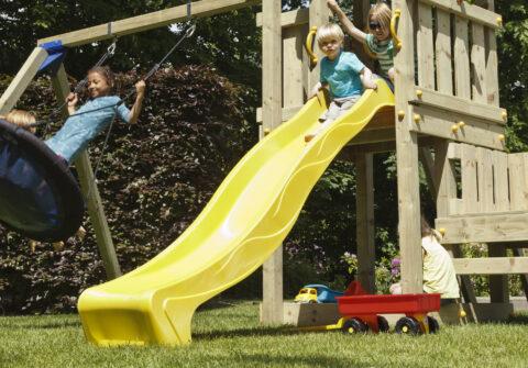 slide rex blue rabbit playtower wood swing
