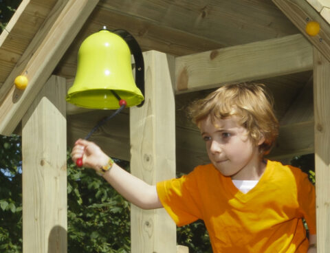 bell blue rabbit playtower wood