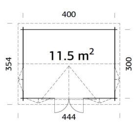 Aiamaja CLAUDIA (11,5 m2)