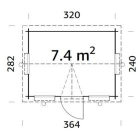 Aiamaja CLAUDIA (7,4 m2)