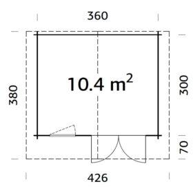 Aiamaja EMMA (10,4 m2)