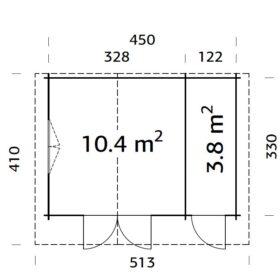 Aiamaja EMMA (14,2 m2)