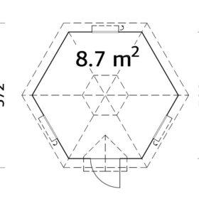 Grillmaja Eva (8,7 m2)